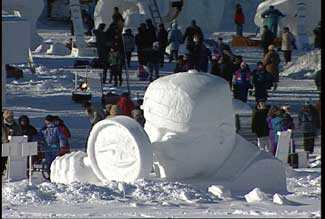 snow scupture