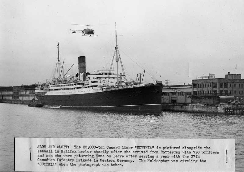 Immigrant Ships - RMS Scythia - Cunard Line, 1920-1958